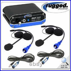 Rugged Radios RRP 360 2 Place Intercom System Helmet Kit