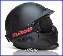Ruroc Black RG1-X Ski/Snowboard Helmet Brand New 2014/15 Range