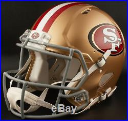 SAN FRANCISCO 49ers NFL Riddell SPEED Full Size Authentic Football Helmet