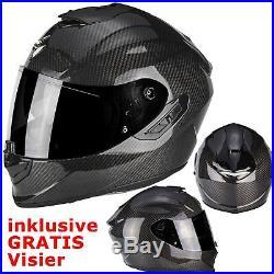 SCORPION Helm EXO-1400 CARBON AIR SOLID Integralhelm Motorradhelm Gr. M 57/58