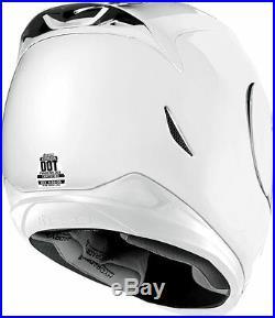 SHIPS SAME DAY ICON Airmada Gloss (White) Motorcycle Full Face Helmet