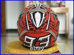 SHOEI Full Face Motorcycle DOT Helmet X14 93 Marquez Anti-fog visor Red Helmet