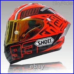 SHOEI Motorcycle Full Face Helmet X14 Spirit 3 Ducati V4 Red Marc Marquez 93