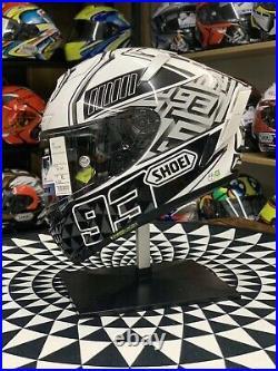 SHOEI Motorcycle Full Face Helmet X14 Spirit 3 Ducati V4 White Marc Marquez 93