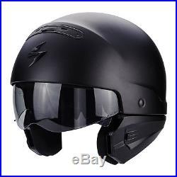 Scorpion EXO Combat Open Face Motorcycle Helmet Matt Black