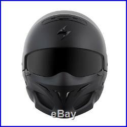 Scorpion EXO Covert 3 In 1 Street Helmet Solid Matte Black Adult All Sizes
