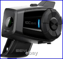 Sena 10C Evo Bluetooth Helmet UHD 4K Action Camera & 4 Way Communication WIFI