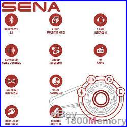 Sena 20S EVO Single Helmet Motorcycle Bluetooth 2km Intercom Headset with FM Audio