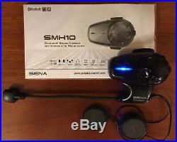 Sena SMH10 Bluetooth Intercom Motorcycle Helmet Kit Headset Open Face/Flip Up