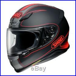 Shoei NXR Flagger TC1 Full Face Motorcycle Motorbike Helmet Red Black Sale XL