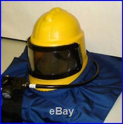 Shotblast Blast Cleaning Scorpion Helmet, Sandblasting, Blasting