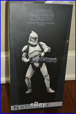 Sideshow Star Wars 1/6 Clone Trooper Deluxe Veteran with Phase I and II Helmet NIB