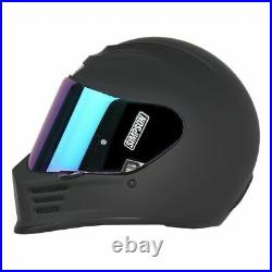 Simpson SPBL3 Speed Bandit Full Face Motorcycle Helmet Size Large Matte Blac