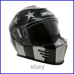 Simpson Venom (bandit) Motorcycle Motorbike Crash Helmet Subdued Black Grey