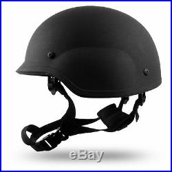 Small Black PASGT Level IIIA Military Bulletproof made with Kevlar Combat Helmet