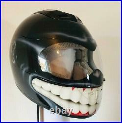 Smiley helmet custom paint airbrush in DOT & ECE helmets free worldwide shipping