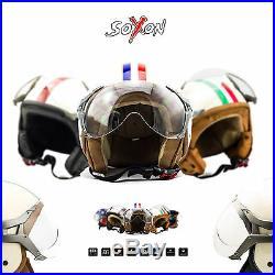 Soxon Sp-325 Jet-helm Vespa Retro Motorrad-helm Roller-helm Vintage Xs S M L XL