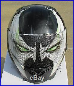 Spawn custom airbrushed painted motorcycle helmet