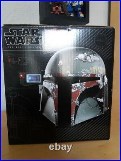 Star Wars Black Boba Fett electronic 1/1 scale wearable helmet