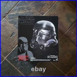 Star Wars Black Series Shadow Trooper Electronic Voice Changer Helmet New NIB