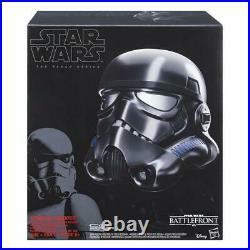 Star Wars Black Series Shadow Trooper Helmet Battlefront With Voice Changer NEW