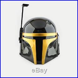 Star Wars Boba Fett Mandalorian Durable Plastic Helmet (Gold Black Edition)