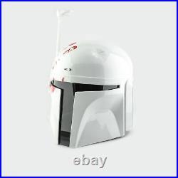 Star Wars Boba Fett Mandalorian Helmet White Edition