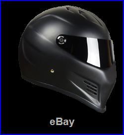 Street FX Pro Streetfighter Motorcycle helmet Matt Black Simpson Bandit style