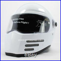 Streetfighter Helmet Bandit Fighter Gloss White (ECE 22-05 Road Legal)