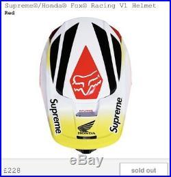 Supreme Honda Fox Racing Helmet Red Small