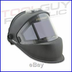 TGR Panoramic 180 View Solar Powered Auto Darkening Welding Helmet -Matte Carbon