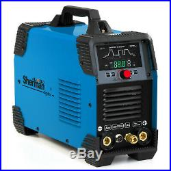 TIG WELDER 200 AMP Pulsed welding machine SHERMAN MULTIPRO DC HF Helmet Gas SET