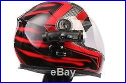 Techalogic DC-1 Motorbike Motorcycle'All in One' DUAL Lens Helmet Camera