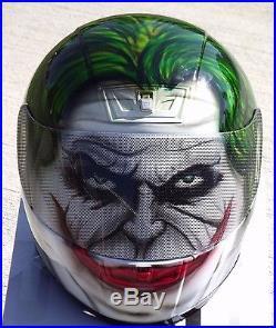 The Joker Custom Airbrush Painted motorcycle helmet