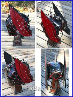 Thor Winged Leather Helmet Fantasy Armor SCA LARP Helm Cosplay Mask Fetish Ren