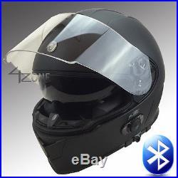 Torc Bluetooth Flat Matte Black Full Face Motorcycle Helmet Dot Large