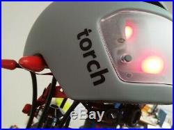 Torch Farbe Brompton grau Größe 54 61 cm Fahrradhelm mit Licht
