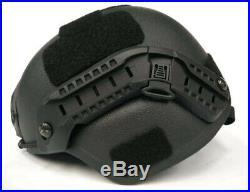 UHMW-PE BALLISTIC IIIA BULLET PROOF HELMET Size M BLACK New High Quality