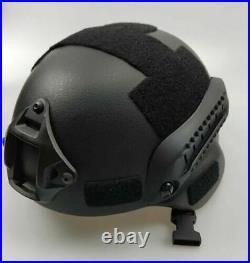 UHMW-PE Ballistic IIIA Bullet Proof Helmet + IIIA Face Guard Shield Mask Size L