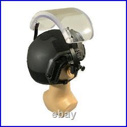 UHMW-PE IIIA Ballistic Bullet Proof Helmet M + IIIA Bulletproof Face Shield Mask