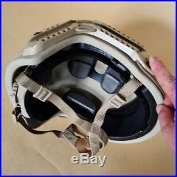 Uhmw-pe Ballistic Iiia Bullet Proof Helmet Size L Sand Color