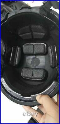 Uhmw-pe Ballistic Iiia Fast Bullet Proof Helmet M Black