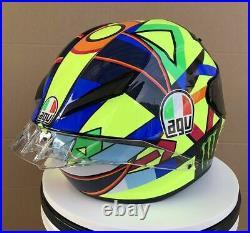 Valentino Rossi Helmet Moto Gp Soleluna Casco Vr46 Motogp Helm Casque