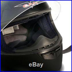 Vcan V136b Full Face Motorcycle Bluetooth Helmet Gloss Black Large
