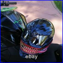 Venom helmet / custom motorcycle helmet Free international shipping DOT and ECE