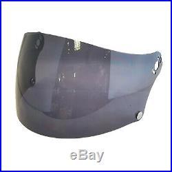 Viper F656 Retro Vintage Fibreglass Full Face Motorbike Motorcycle Helmet + Dark