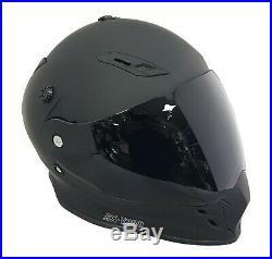 Viper Rx-v288 Dual Visor Enduro Motorcycle Helmet Matt Black + Extra Dark Visor