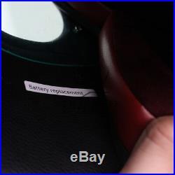 Vivid Black LEDs Safety Full Face Helmet Predators Hero Mask Fiberglass L