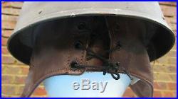 WW2 British Army Dispatch Rider Helmet 1945 Size 7 In excellent condition