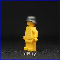 WW2 Helmets (x10) Compatible with Lego Stahlhelm - Army Military